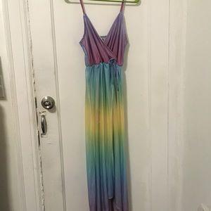 NWOT Unif rainbow dreamer dress